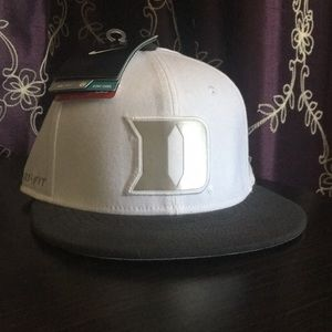 White Nike Duke Blue Devils Flex Fit Hat
